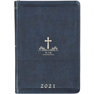 Executive Planner 2021- Navy Blue / Cross
