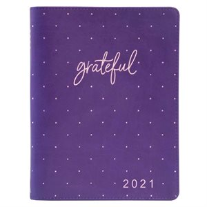 Large Daily Planner for Women 2021 Purple / Grateful