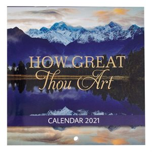 2021 How Great Thou Art Mini Wall Calendar