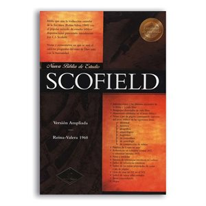 RV 1960 New Scofield Study Bible (Black Bonded Leather - Indexed) (Spanish Edition)